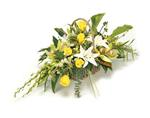 Funeral Basket LargeYellow & White